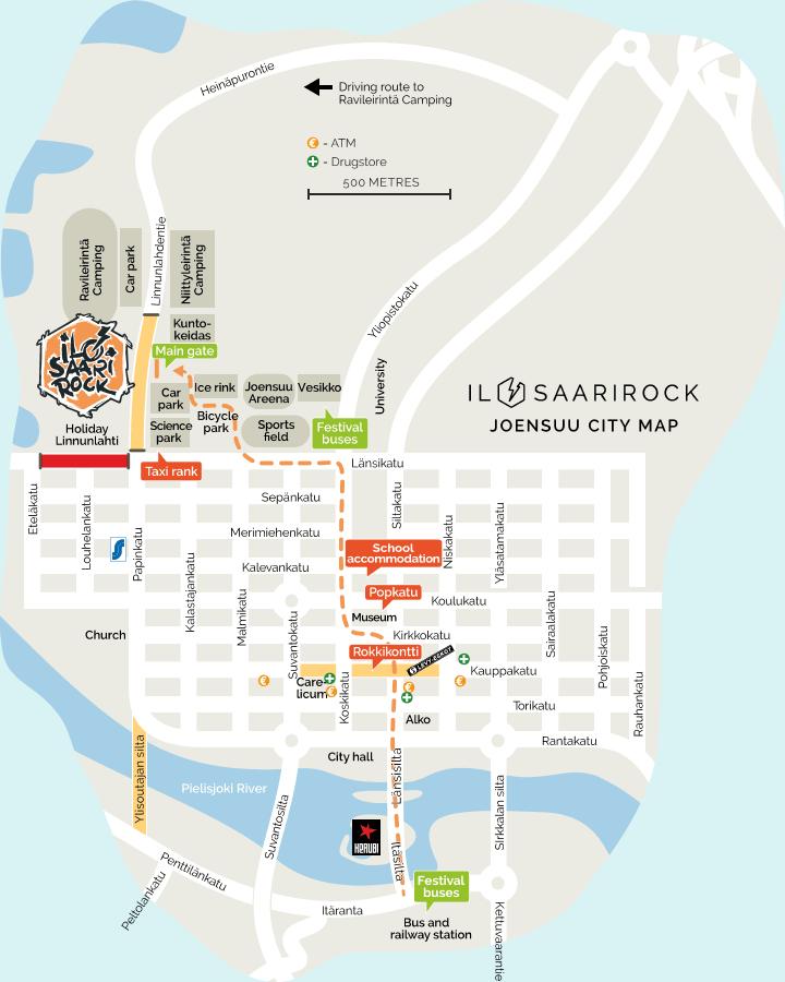 Ilosaarirock Festival 2017 Info Maps
